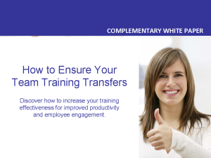 HOW TO ENSURE YOU TEAM TRAINING TRANSFERS wp
