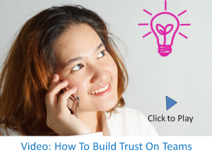 Trust video call to action graphic