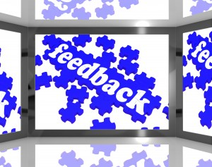 Feedback On Screen Showing Customers Review And Satisfaction Rating