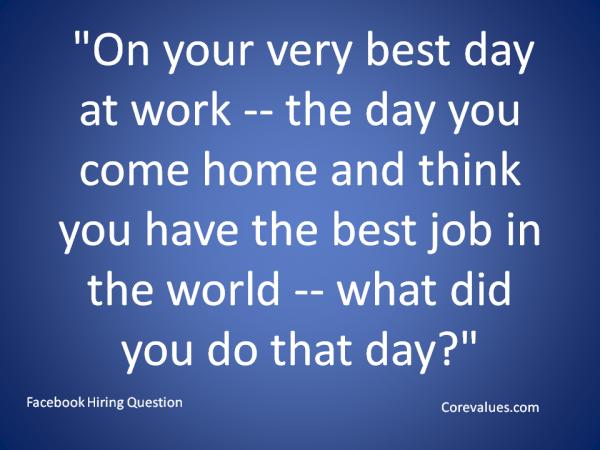 best hiring question